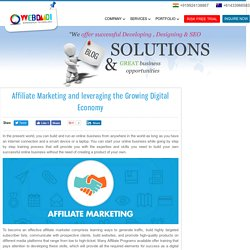 Affiliate Marketing and leveraging the Growing Digital Economy - webdaadi