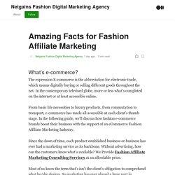 Amazing Facts for Fashion Affiliate Marketing