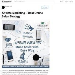 Affiliate Marketing – Best Online Sales Strategy