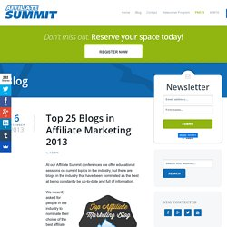 Top 25 Blogs in Affiliate Marketing 2013
