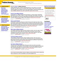 Affiliate Networks Reviews