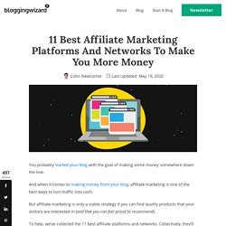 11 Best Affiliate Platforms And Networks Compared (2020)