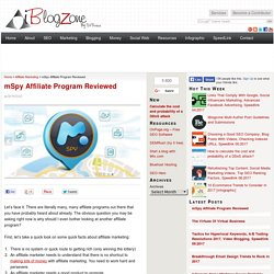mSpy Affiliate Program Reviewed