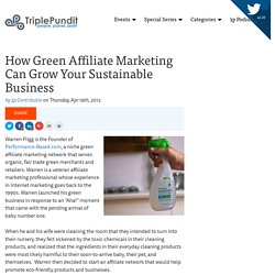 How Green Affiliate Marketing Can Grow Your Sustainable Business