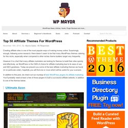 Top 50 Affiliate Themes For WordPress - WP Mayor