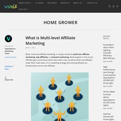 What is Multi-level Affiliate Marketing – ViparSpectra