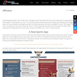 Affiliates - Crazy New Sports App