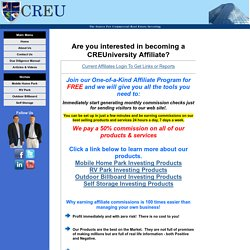 Affiliates - CreUniversity - Commercial Real Estate Investment Education