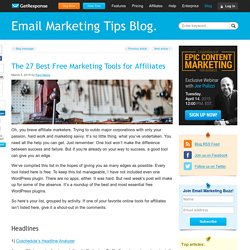 The 27 Best Free Marketing Tools for Affiliates