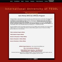 Affiliates - International University of TESOL Training