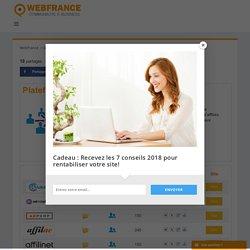 Plateforme d'affiliation Comparateur - WebFrance