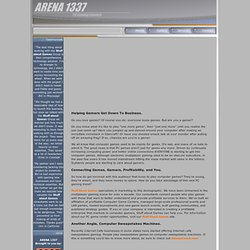 Arena 1337 - Computer Game Center Affiliation & Game Center Cons