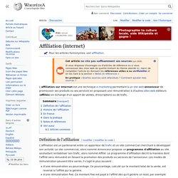 Affiliation (internet)