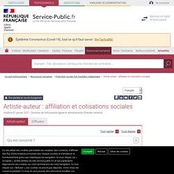 Affiliation et cotisations sociales des artistes auteurs - professionnels