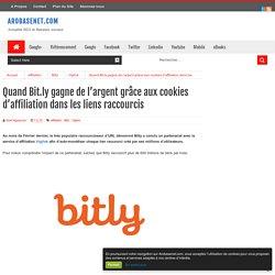 Quand Bit.ly gagne de l'argent grâce aux cookies d'affiliation dans les liens raccourcis