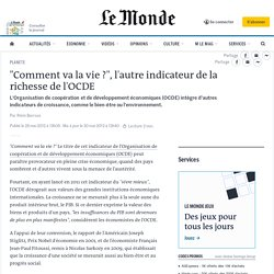 L'OCDE affine son indicateur de la richesse