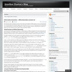 Jonathan Manton's Blog