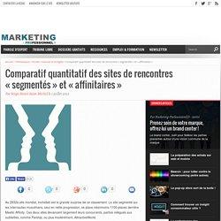 """Comparatif quantitatif des sites de rencontres """"segmentés"""" et """"affinitaires"""""""