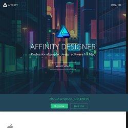Affinity Designer - Logiciel de conception graphique professionnel pour Mac