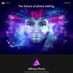 Affinity Photo - Professional image editing software for Mac