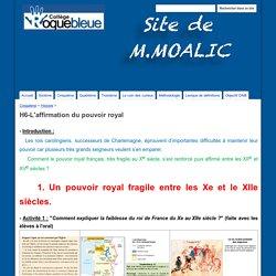 H6-L'affirmation du pouvoir royal - Site de M.Moalic