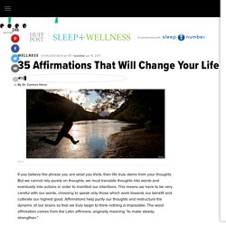 35 Affirmations That Will Change Your Life