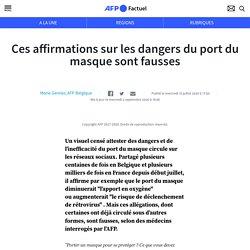 Ces affirmations sur les dangers du port du masque sont fausses