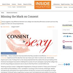 Study suggests big difference between how college men describe affirmative consent and apply it to their own sexual experiences