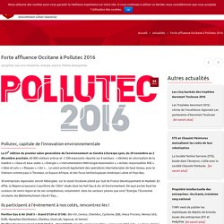 Forte affluence Occitane à Pollutec 2016 - Madeeli