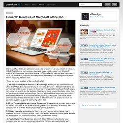 Qualities of Microsoft office 365