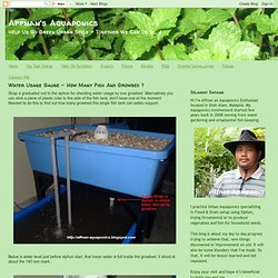 Affnan's Aquaponics: Water Usage Gauge - How Many Fish And Growbed ?
