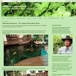 Affnan's Aquaponics: Aquaponics Malaysia - En. Ahmad Hayan Radzi Setup