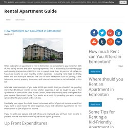How much Rent can You Afford in Edmonton? - Apartment Guides Blog