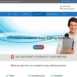 Affordable Academic Copy Editing Services