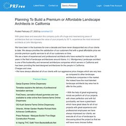 Planning To Build a Premium or Affordable Landscape Architects in California