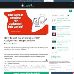 How to get an affordable PHP assignment help service?