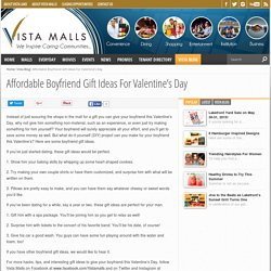 Affordable Boyfriend Gift Ideas For Valentine's Day