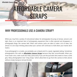 Affordable Camera Straps