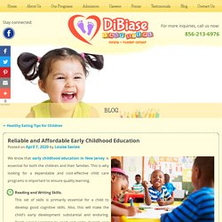 Reliable and Affordable Early Childhood Education