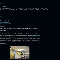 Affable and Affordable House Cleaning Services in India
