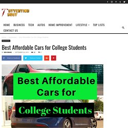 Best Affordable Cars for College Students