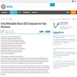 Find Affordable Boise SEO Company for Your Business