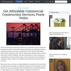 Get Affordable Commercial Construction Services, Ponte Vedra