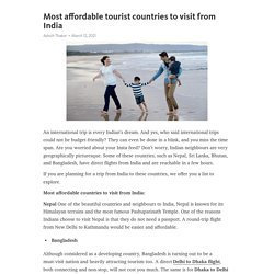 Most affordable tourist countries to visit from India