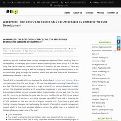 WordPress- The Best Open Source CMS For Affordable eCommerce Website Development – GOIGI Blog