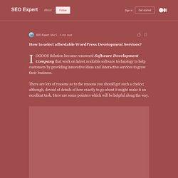 Hire renowned WordPress Development Company