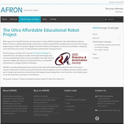 Ultra-Affordable Educational Robot Project - African Robotics Network (AFRON)