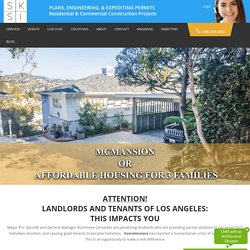 Affordable Housing Units with ADUs - SKSI PLANS, ENGINEERING, & EXPEDITING PERMITS