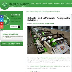 Reliable and Affordable Flexographic Solutions