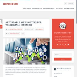 Affordable Web Hosting For Your Small Business